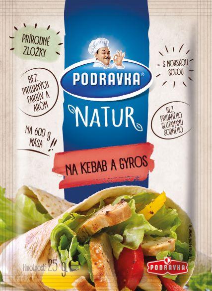 Podravka Natur na kebab a gyros 25 g