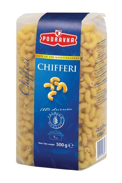Těstoviny chifferi (kolena) 500 g