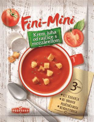 Krémová rajská polévka s mozzarellou 23 g