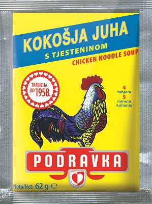 Slepičí polévka s těstovinou 62 g
