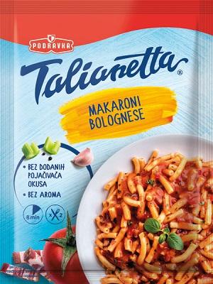 Těstoviny Macaroni bolognese 160g