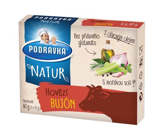 Natur hovězí bujón kostky 60 g