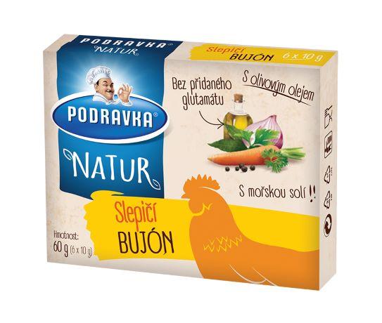 Natur slepičí bujón kostky 60 g