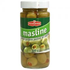 Zelené olivy s paprikou 350 g